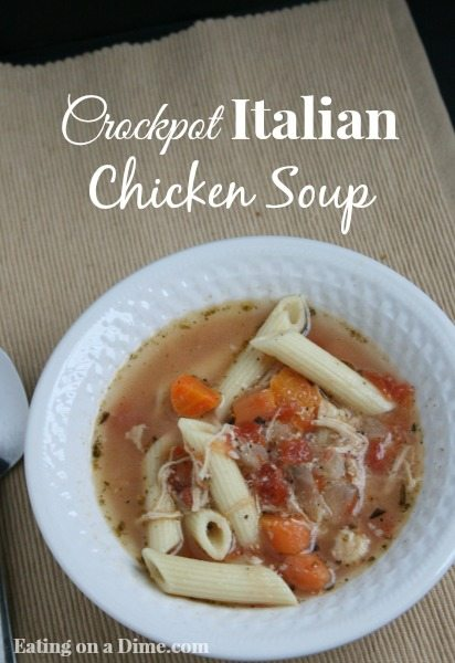 crockpot Italian Chicken soup
