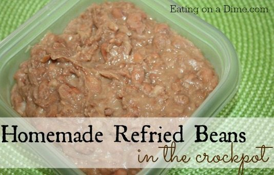 Homemade-refried-beans cooked in your crockpot