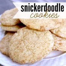 snickerdoodle cookies - square