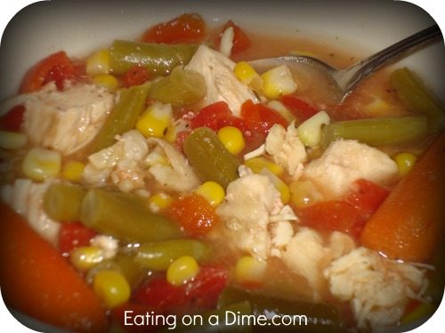 Crockpot Chicken and Vegetable Soup
