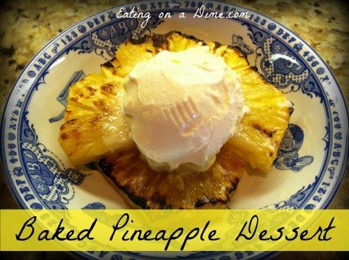 Baked Pineapple Dessert 1