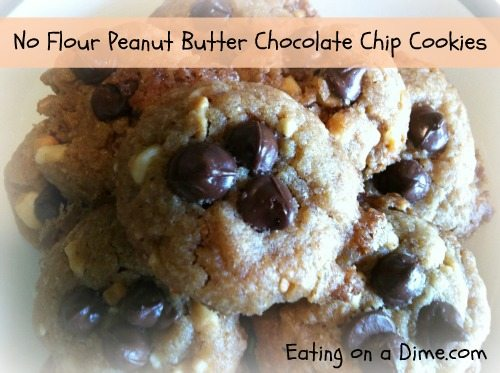 No Flour Peanut Butter Chocolate Chip Cookies 1