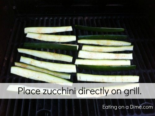 Easy Grilled Zucchini Spears