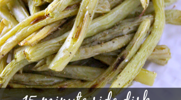 roasted green beans - square