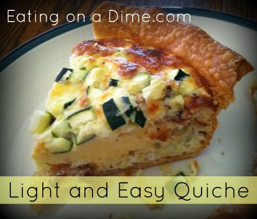 light and easy quiche 1
