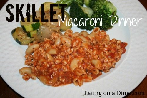 Skillett Macaroni Dinner