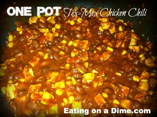 one pot tex mex chicken chili
