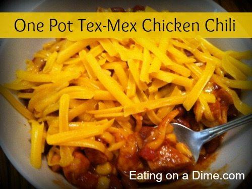 One Pot Tex-Mex Chicken Chili