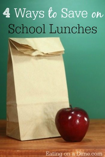 ways to save on school lunches