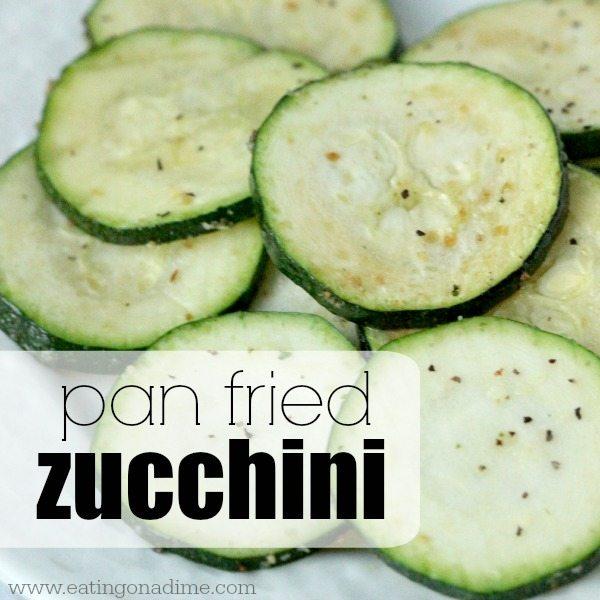 pan fried zucchini- square