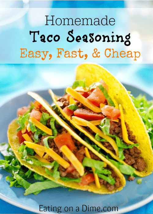 This homemade taco seasoning recipe is so easy to make. You can make it in minutes for half the cost than the store packets