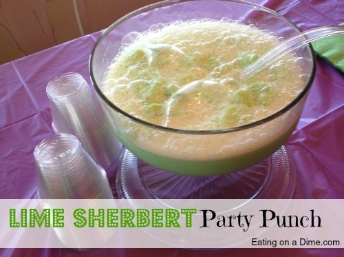Lime Sherbert Party Punch