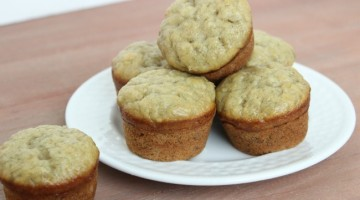 quick banan bread mini muffins recipe