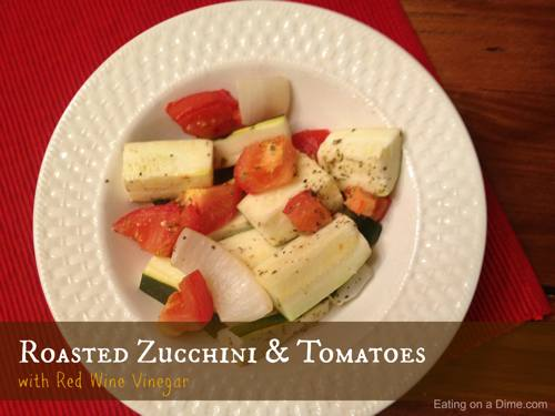 Roasted Zucchini & Tomatoes with Red Wine Vinegar