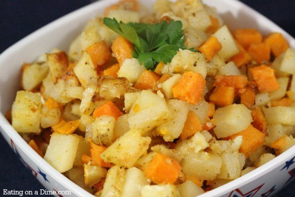 Pan fried sweet potatoes potatoes recipe eating on a dime for Different ways to cook russet potatoes