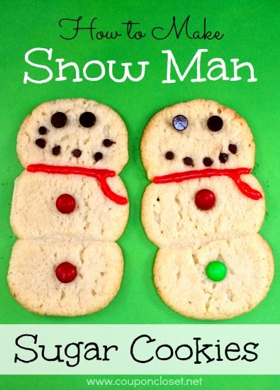 how to make snowman sugar cookies