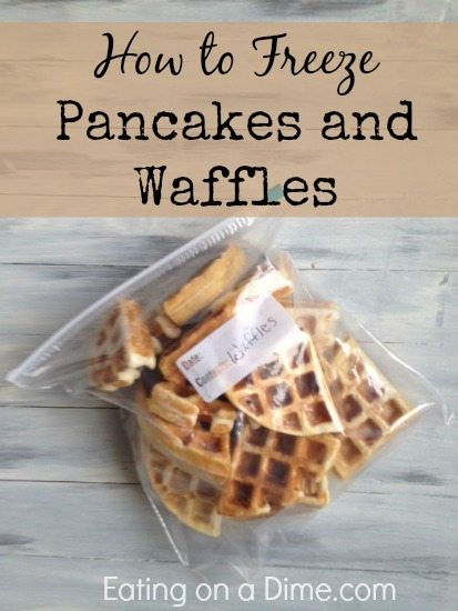 How to Freeze Pancakes and Waffles