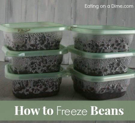 How to freeze beans
