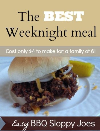 The Best Weeknight meal - easy BBQ Sloppy Joes