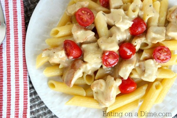 Creamy Chicken Pasta with Fresh Tomatoes