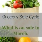 what is on sale in March - grocery sale cycle