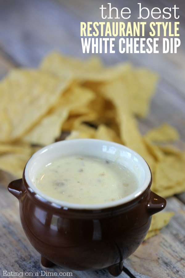 Mexican Restaurant Style White Cheese Queso Dip