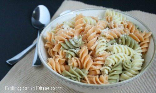 Parmesan Pasta – Easy 2 Ingredient Side Dish
