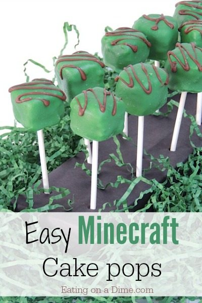 Minecraft Cake Pops Eating On A Dime