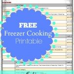 freezer cooking guide printable