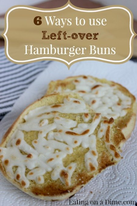 Don't you hate it when you only have one or two Hamburger buns leftover after a party or a grilling night? Don't throw those away! Those babies are perfect for other meals :)  Take a minute to read these easy ways to use those leftover hamburger buns.