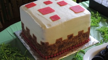 Minecraft birthday cake cake block
