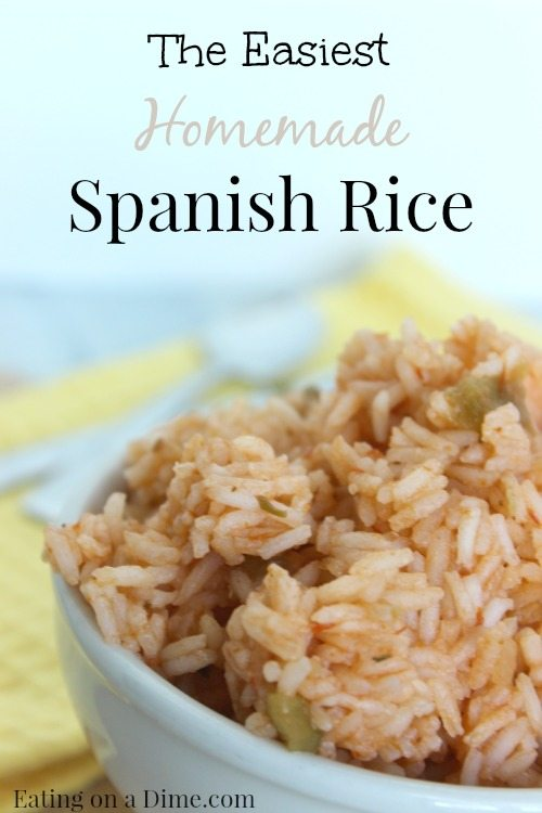 This Homemade Spanish rice is easy to make and tastes great! With just a few ingredients you can have it made in under 25 minutes!