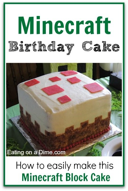 How To Make This Cake Block Minecraft Birthday