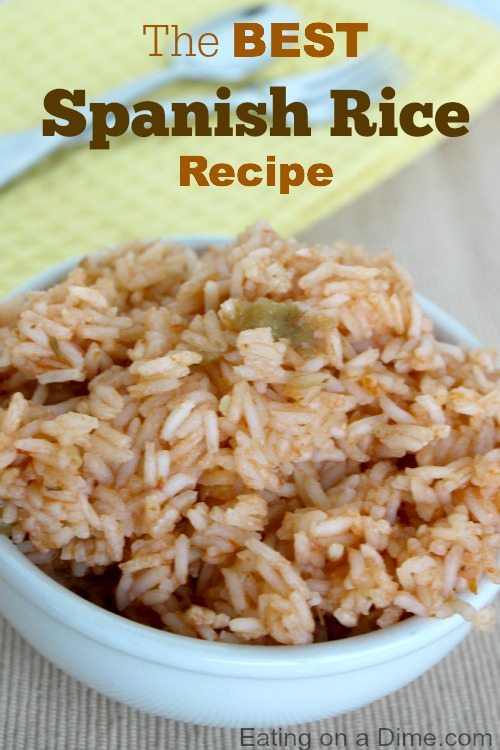 this spanish rice recipe has only a few ingredients and taste amazing!