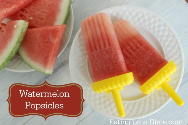 Homemade Watermelon Popsicles