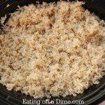crock pot rice - all done