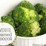 3 minute steam broccoli in microwave