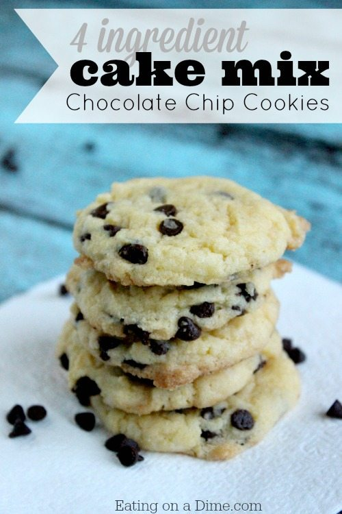 Chocolate Chip Cookies Using Yellow Cake Mix