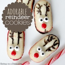 adorable reindeer cookies