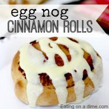 delicious egg nog cinnamon rolls