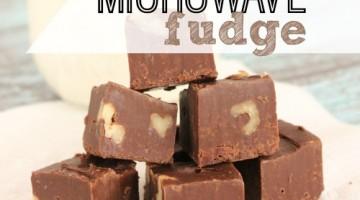 delicious microwave fudge