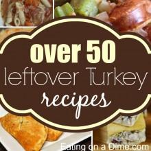 left over turkey recipes - square