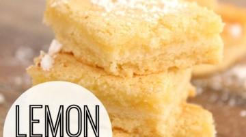 lemon bars - square