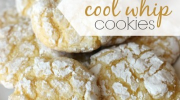 lemon cool whip cookies - square