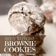 brownie cookies - square