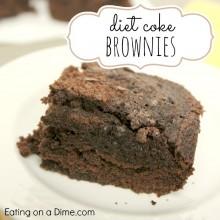 diet coke brownies - square