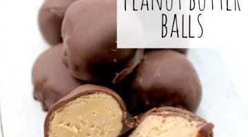 peanut butter balls - square