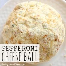 pepperoni cheese ball square