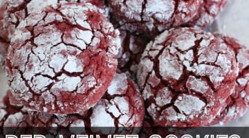 red velvet cookies - square