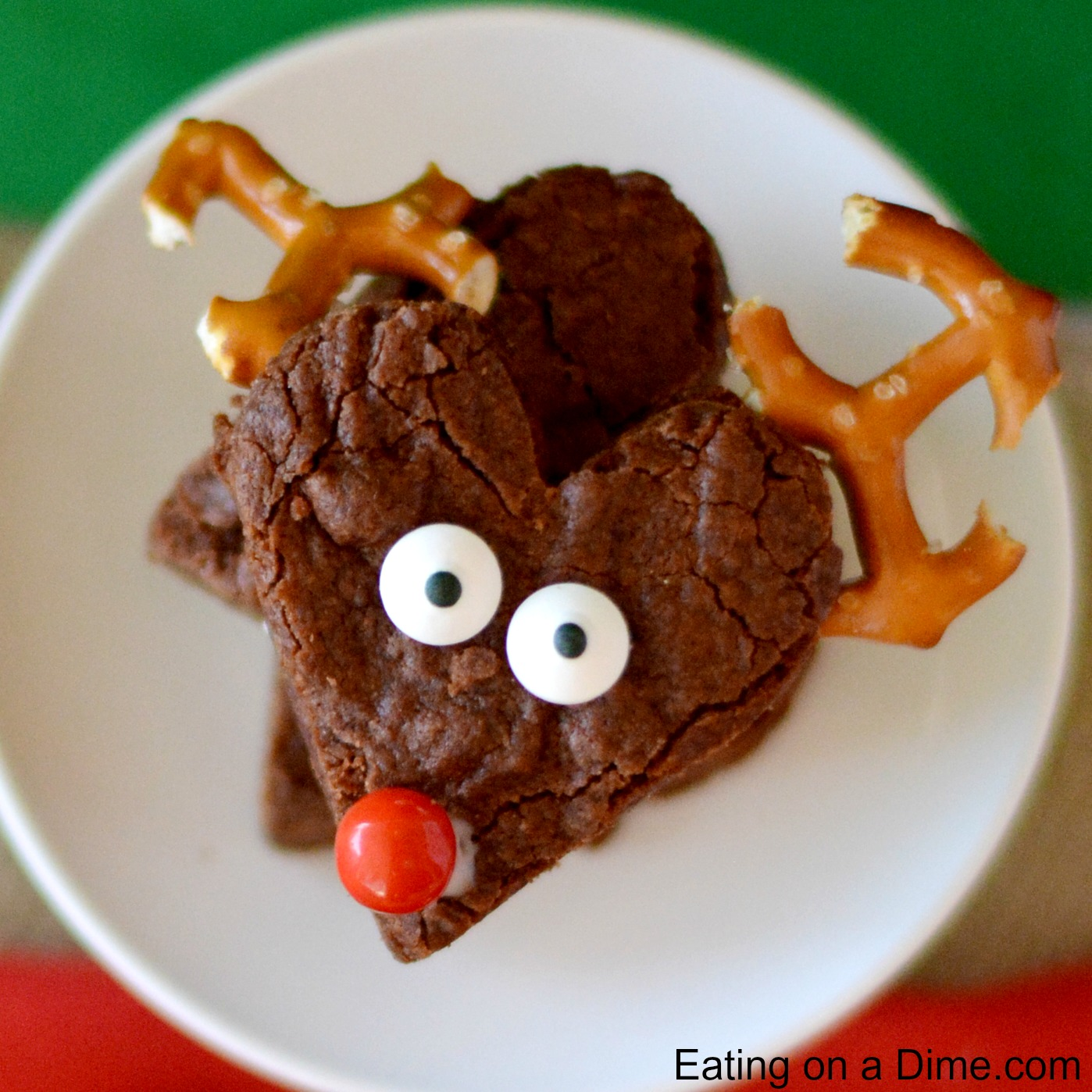Easy To Make Reindeer Brownies